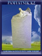 Памятники из белого мрамора с рельефом. Цена 42000 тг. - Кокшетау
